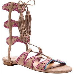 Schutz Genuine Suede Gladiator Sandal